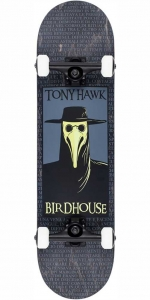 "Birdhouse Stage 3 Plague Doctor Skateboard | 8"" Black"