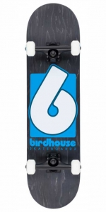 "Birdhouse Stage 3 B Logo Skateboard | 8"" Black Blue"