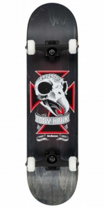 "Birdhouse Stage 3 Skull Skateboard | 8.125"" Black"