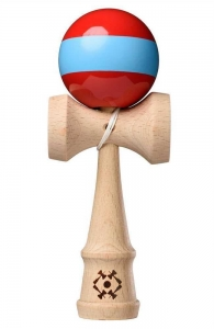 Tribute Kendama Single Stripe  | Red Blue