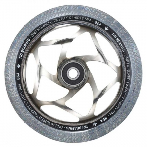 Blunt Tri Bearing 120mm x 30mm Stunt Scooter Rolle / Wheel | Chrome Clear